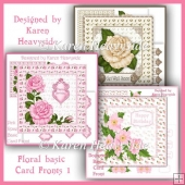 Floral Basic Card Fronts Bundle 1
