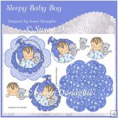 Sleepy Baby Boy Petal Stand Card