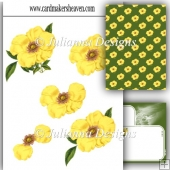Yellow Floral Decoupage Set