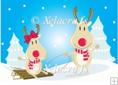 Mr and Mrs Rudy Reindeer Sledging