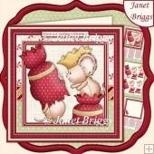 CHRISTMAS CRACKER FUN 7.5 Decoupage & Insert Mini Kit