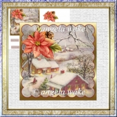 friends at Christmas 5.5x5.5 card and decoupage