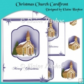 Christmas Church Cardfront with Pyramage