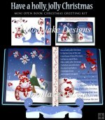 Have A Holly, Jolly Christmas Mini Open Book Card Kit