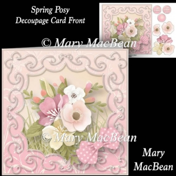 Spring Posy - Decoupage Card Front