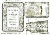 Winter's Beauty Christmas Photo Frame - Endless Uses
