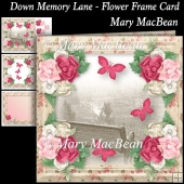 Down Memory Lane - Flower Frame Card
