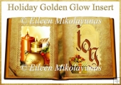 Holiday Golden Glow Open Book Card Insert