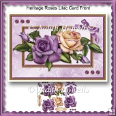 Heritage Roses Lilac Card Front