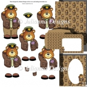Air Force Teddy Decoupage Set