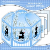 Winter Rudolph Hexagon Gift Box