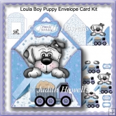 Loula Boy Puppy Envelope Card Kit