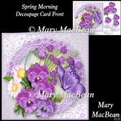 Spring Morning Decoupage Card Front