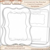 Bracket Card & Envelope Template Commercial Use OK