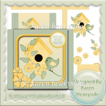 Birdhouse 1 Shadow Box Card