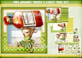 Mrs Brandy Mouse Four Sheet Mini KIt