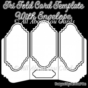 Tri Fold Card and Envelope Template