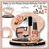 Make Up And Roses Shaped Birthday Card Kit