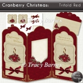 Cranberry Christmas Trifold Red