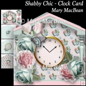 Shabby Chic - Clock Card