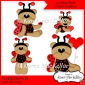 CU4CU, Commercial or Personal Use Ok Red Lovebug Bears Clipart