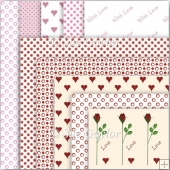 Valentine Backing Papers