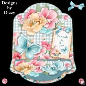 Summer Blooms & Butterflies Easel Card
