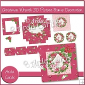 Christmas Wreath 3D Picture Frame Decoration