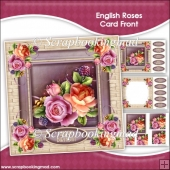 English Roses Pyramage Card Front Kit