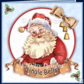 Santa Jingle Bells Card