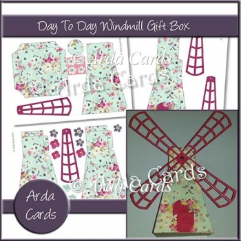 Day To Day Flowers Windmill Gift Box