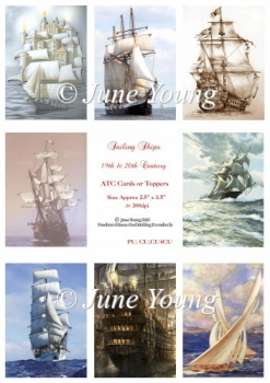 Toppers or ATC Cards - Sailing Ships