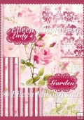 My Lady's Garden Backing Background Papers Set