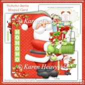 Hohoho Santa Shaped Card