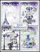 Flea Market Chic Paris Bellflowers Collage Papers