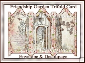 Friendship Garden Trifold Screen Card Set with Decoupage