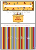 Birthday Cake Penny Slider Sheet