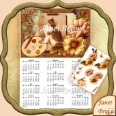 Artist Canvas Kitten 2017 A4 UK Calendar with Decoupage Kit