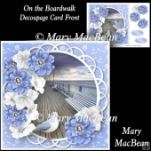 On the Boardwalk - Decoupage Card Front
