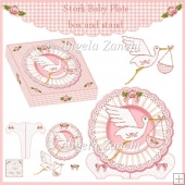 BABY GIRL PLATE STAND AND GIFT BOX