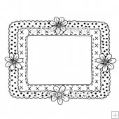 Floral Frame Digital Stamp 1 - Commercial and Personal Use