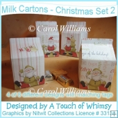 Milk Cartons - Christmas Set 2