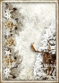 Woodland Winter Backing Background Paper