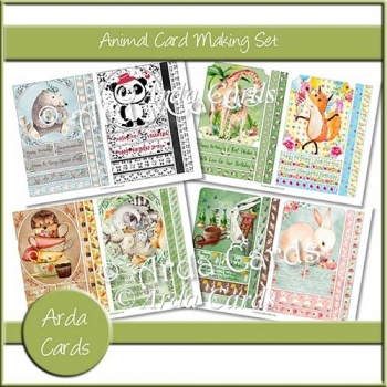 Animal Card Making Set
