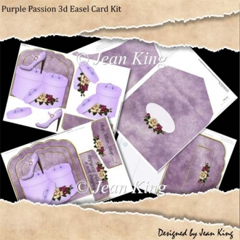 Purple Passion 3d Easel Card Kit