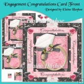 Engagement Congratulations Card Front with Pyramage