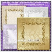Floral And Damask Card Bases With Ornate Frames CU