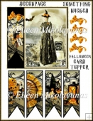 Something Wicked Halloween Card Topper with Decoupage