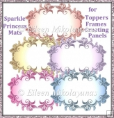 Princess Sparkle Mats for Toppers, Frames, Greeting Panels
