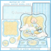 Bundle Of Joy Regal Shaped Easel Card